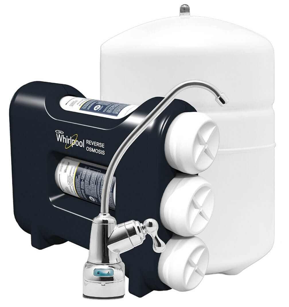Whirlpool WHAROS5 Reverse Osmosis Water Filtration System With Pre//Post Replacement Filters /& Replacement Membrane RO