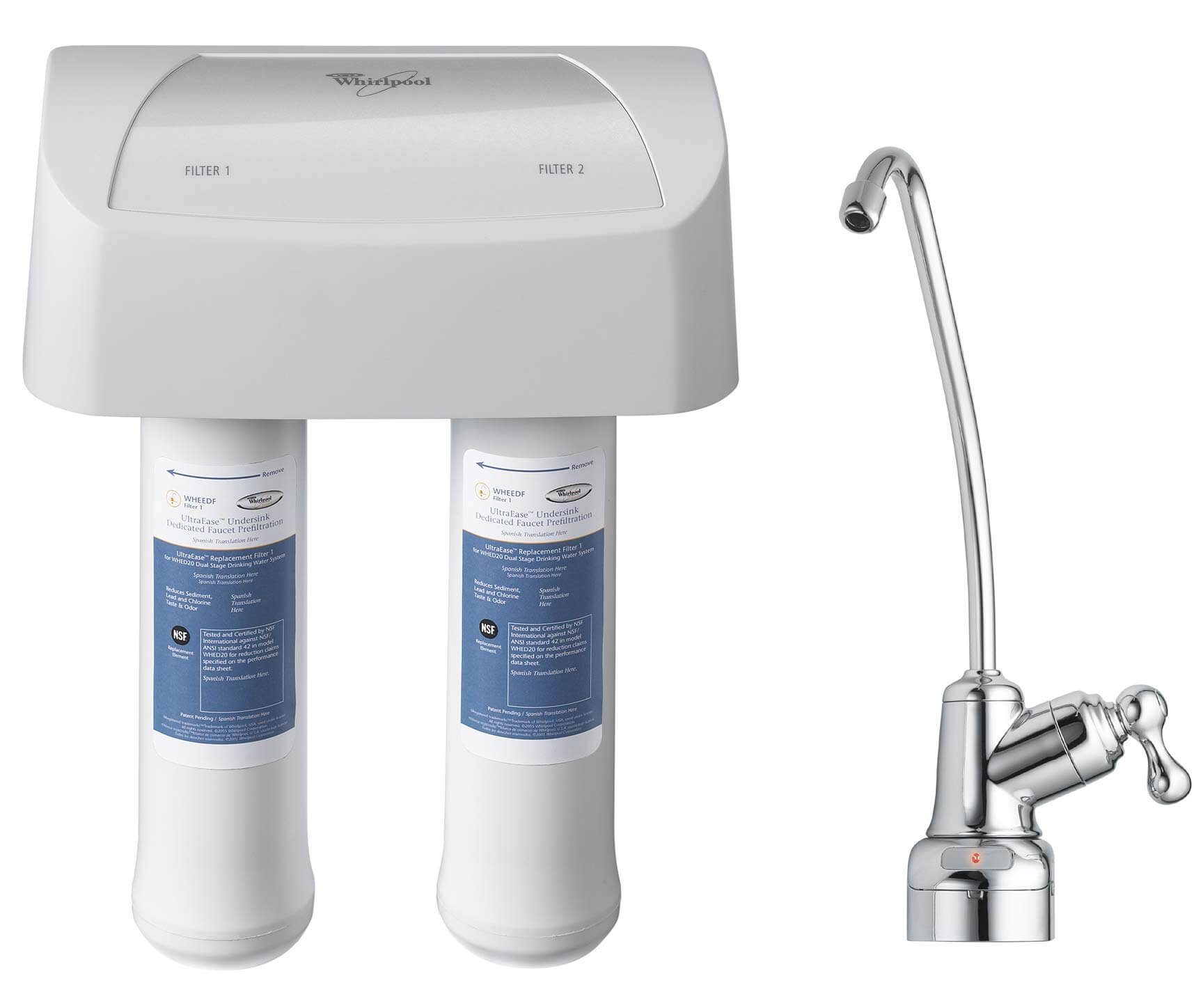 Under Sink Replacement Water Filter Set 2pk Whirlpool