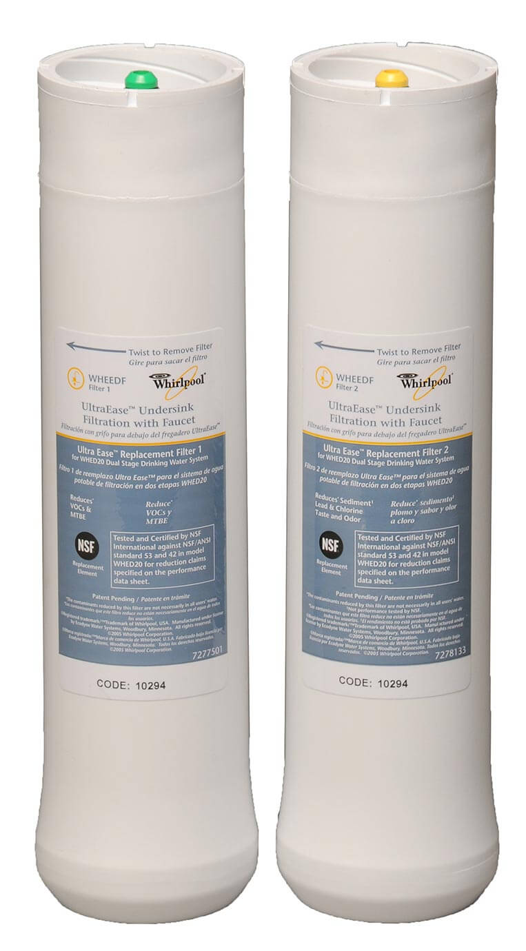 Whirlpool Ultraease Water Filter Under Sink Replacement Water Filter Set - 2PK | Whirlpool